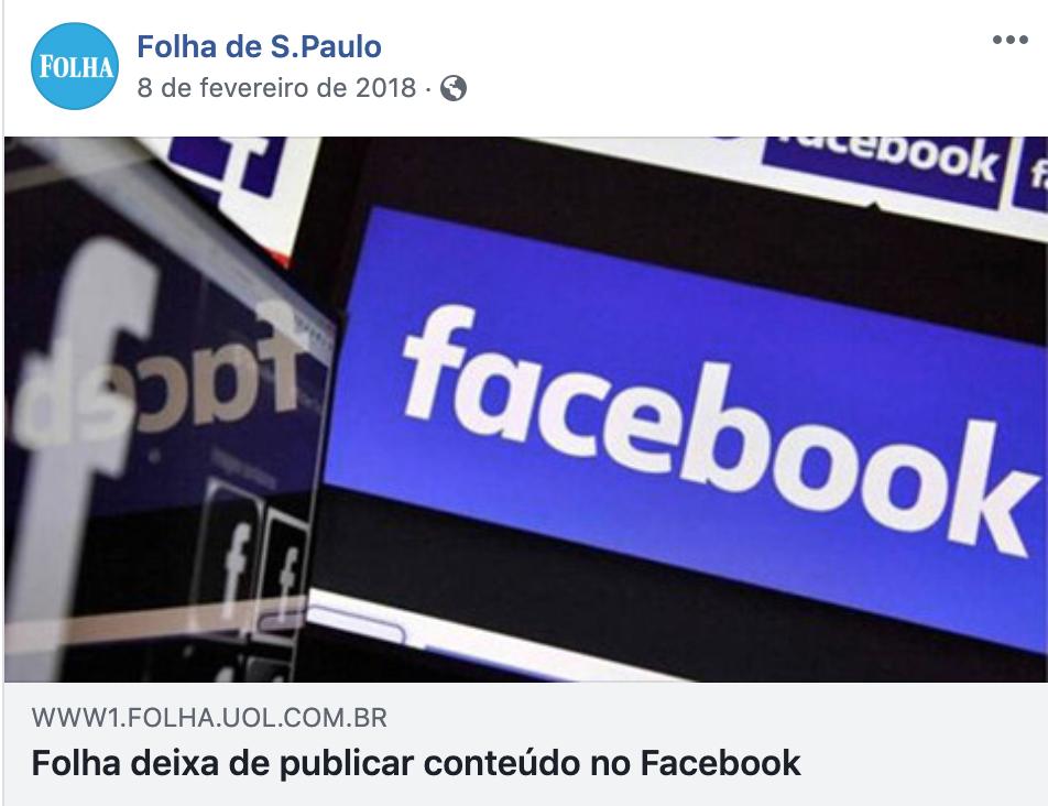 folha de sao paulo deixa as redes sociais